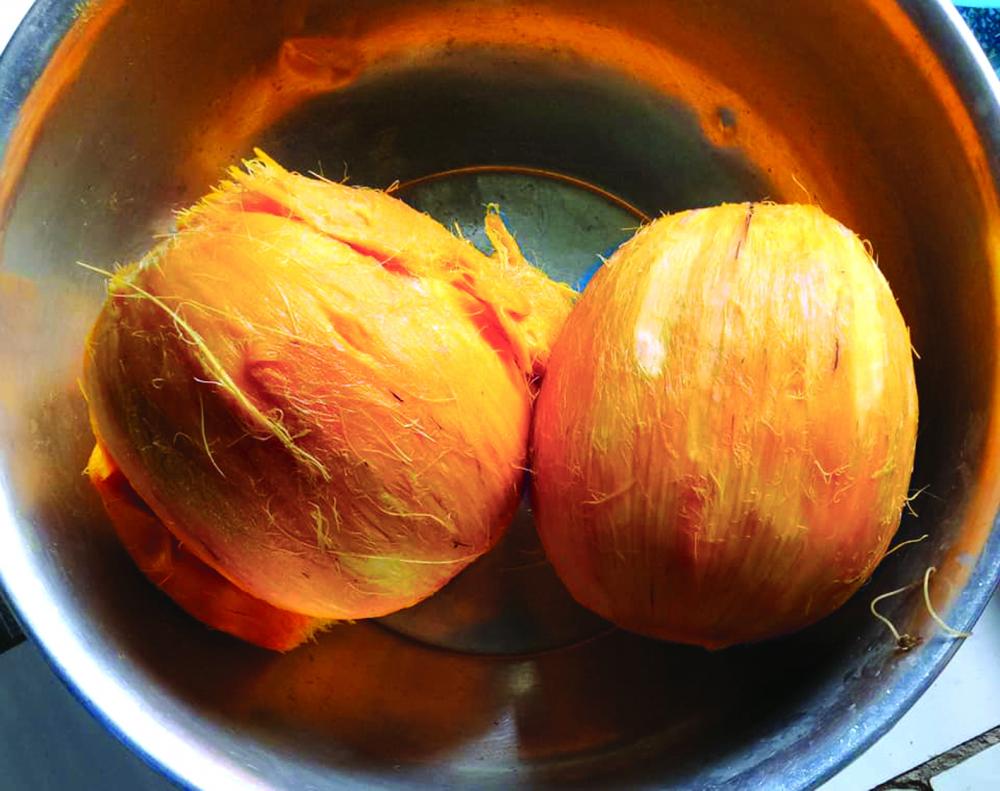 Trái thốt nốt già đã được tước vỏ