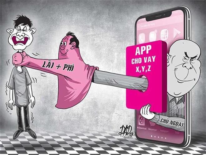 Rất nhiều app (ứng dụng) vay tiền hiện được điều khiển bởi các nhóm người Trung Quốc (Ảnh minh họa).