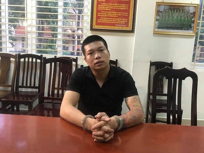 Đối tượng Nguyễn Khắc Hải bị Công an quận Nam Từ Liêm bắt giữ.