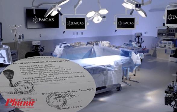 Chứng chỉ hành nghề của ông Đinh Viết Hưng do Sở Y tế TP.HCM cấp là chấn thương chỉnh hình
