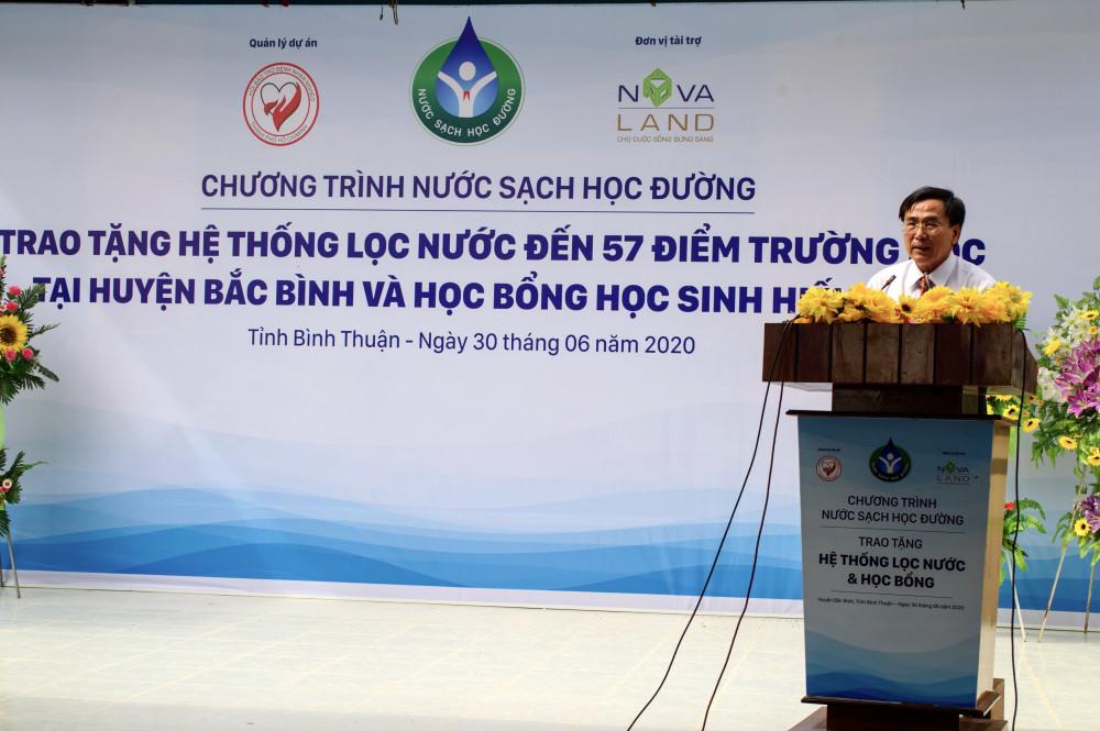Niềm vui nước sạch học đường đến với Bắc Bình, Bình Thuận. Ảnh: Novaland cung cấp