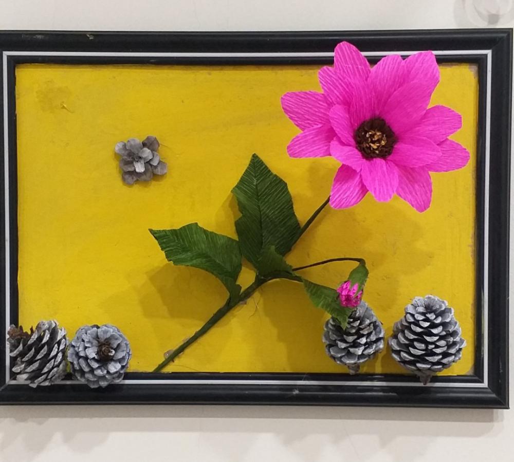 Hoa cúc châu Phi, sản phẩm do học viên của lớp thực hiện.