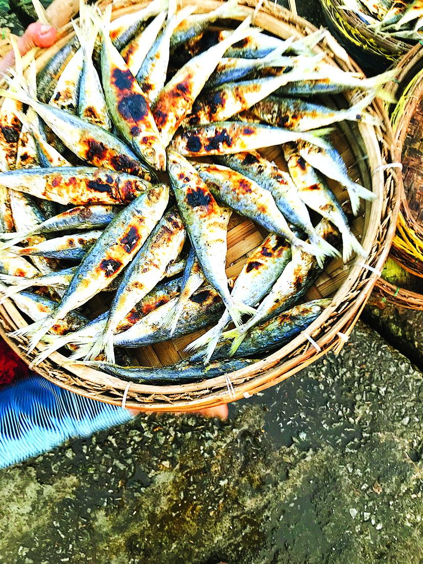 Mẹt cá khô ở Tam Giang