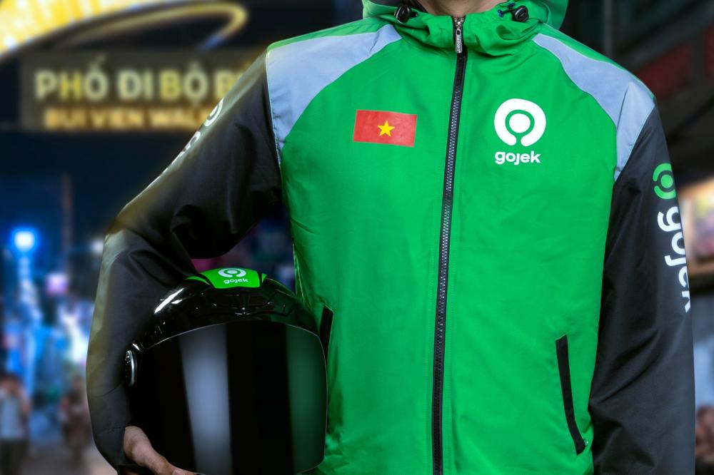 Đồng phục mới của tài xế Goviet khi chính thức hợp nhất với Gojek