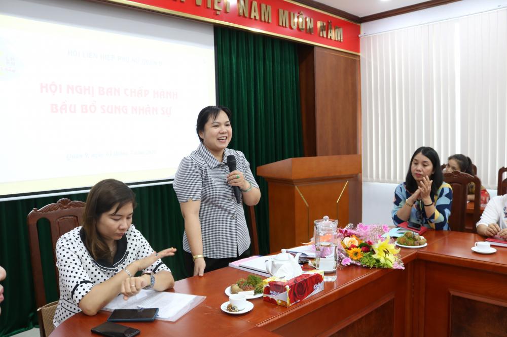 Tân Chủ tịch Hội LHPN quận 9 Nguyễn Hạnh Thảo.