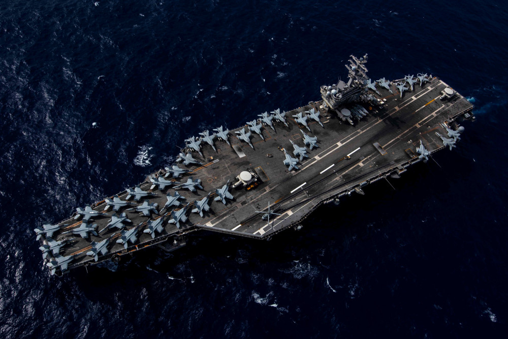 Tàu sân bay USS Ronald Reagan .