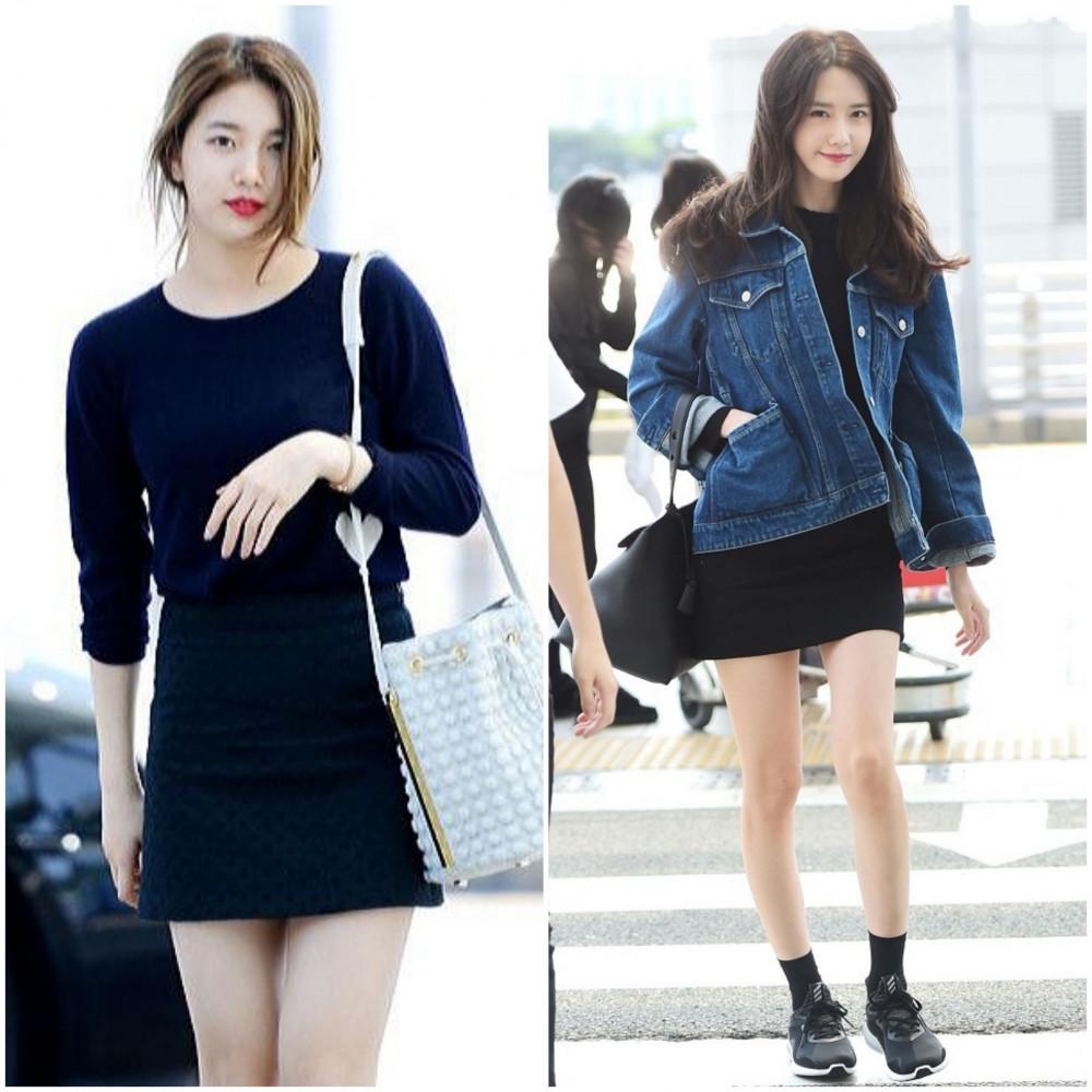Các bạn nữ có thân hình chuẩn đừng ngại diện chiếc đầm ôm body. Phá cách một chút nên kết hợp cùng áo khoác jean…