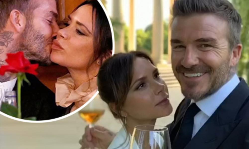 David Beckham và vợ hạnh phúc kỷ niệm 21 năm ngày cưới.