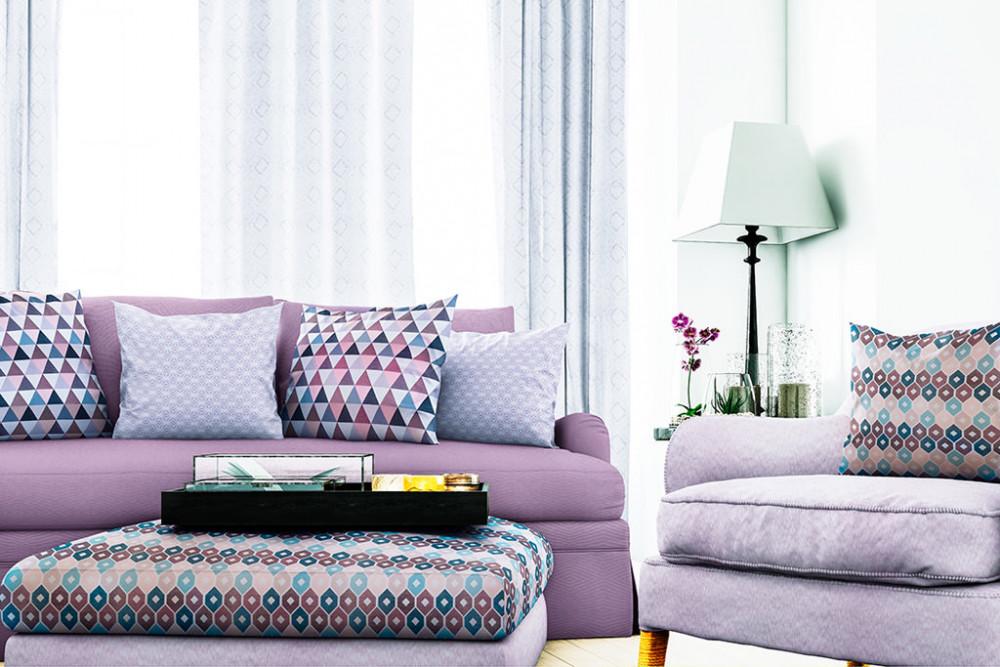 Ý tưởng thiết kế phòng khách dệt may