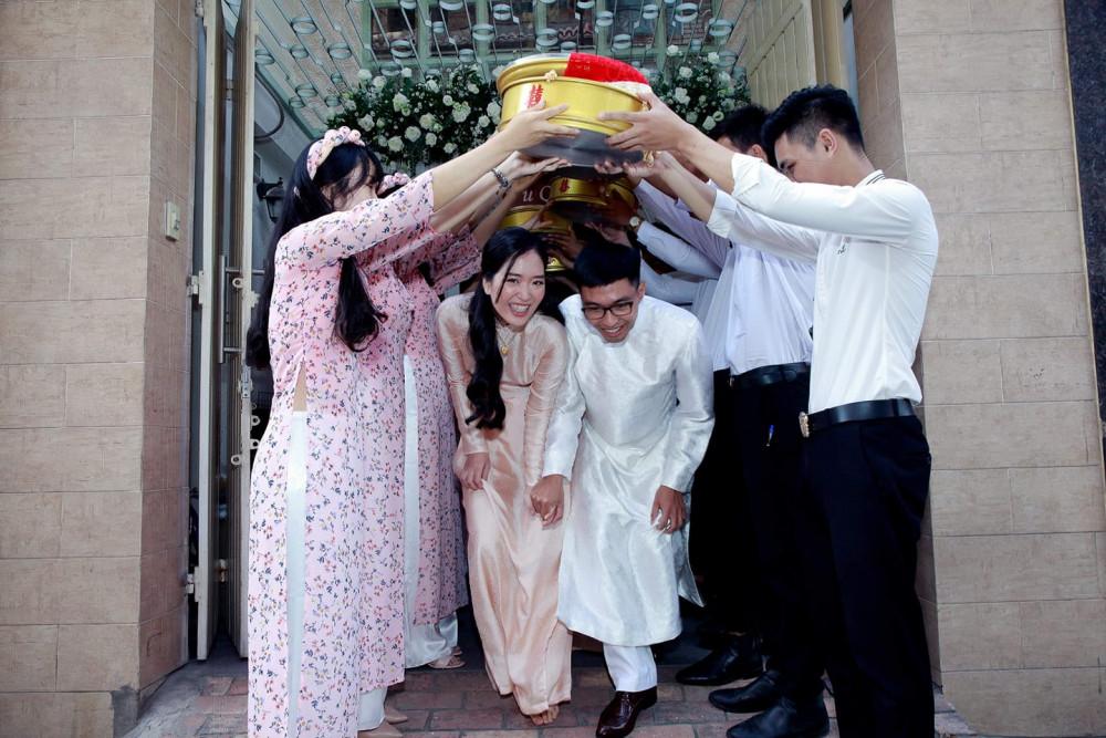 Không gian đám cưới đơn giản của Hà và Đại