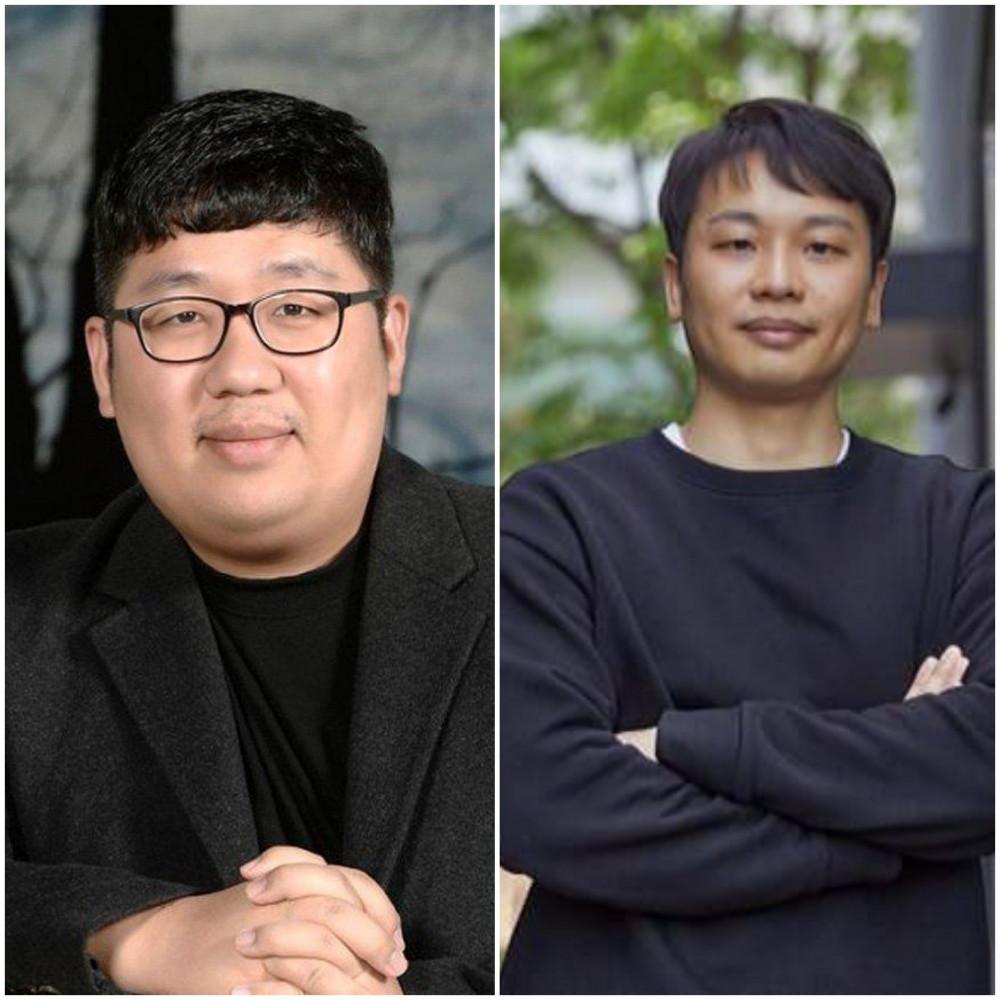 Biên kịch Lee Shin-hwa (trái) và Jin Han-sae (phải).