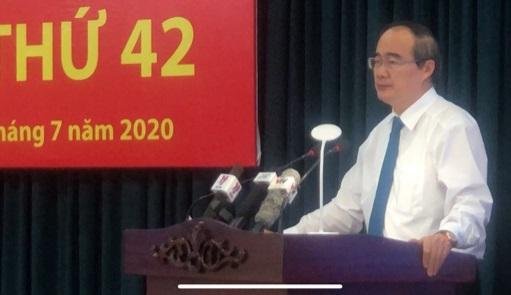 Bí thư Nguyễn Thiện Nhân phát biểu kết luận hội nghị. Ảnh: Quốc Ngọc