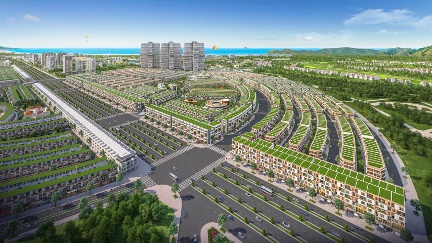 Kỳ Co Gateway kiến tạo nên đô thị phồn hoa bên vịnh biển.
