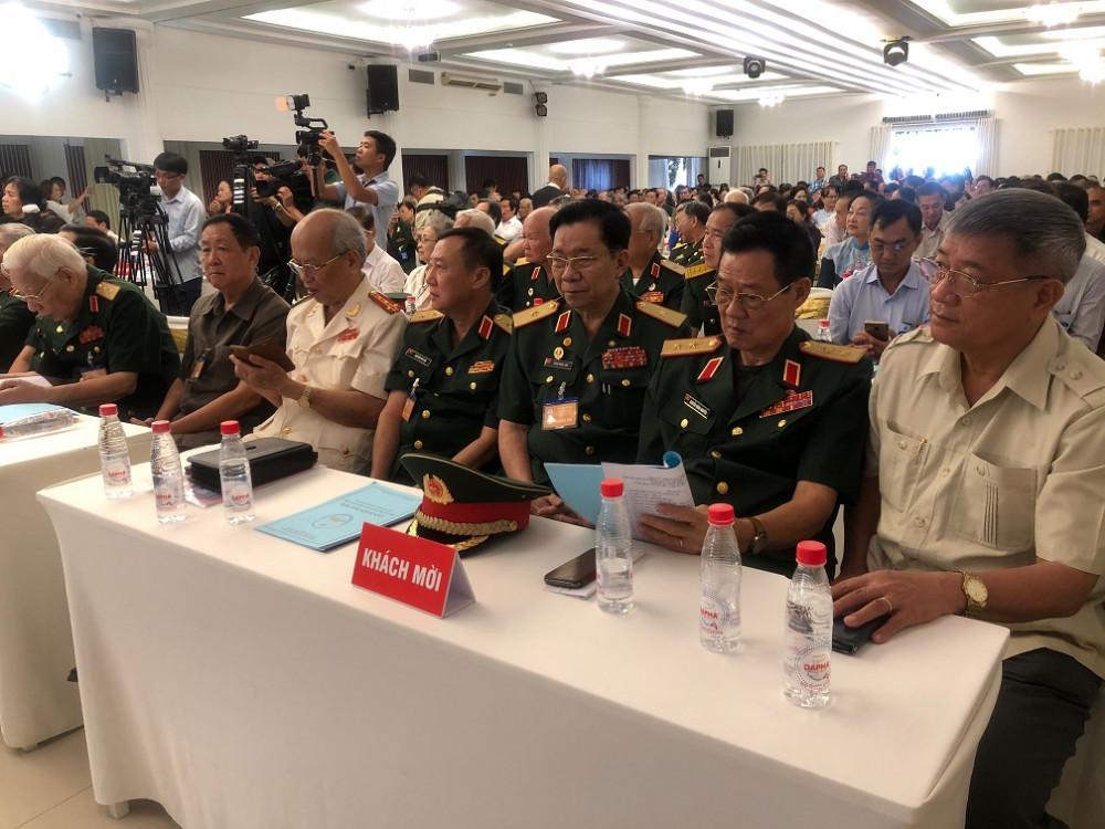 Đoàn khách mời Đại hội đại biểu Hội hỗ trợ gia đình liệt sĩ TPHCM nhiệm kỳ 2020-2025. Ảnh: Quốc Ngọc