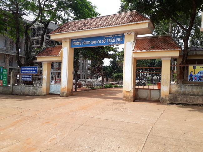 Trường THCS Trần Phú - nơi xảy ra sự  việc đáng tiếc