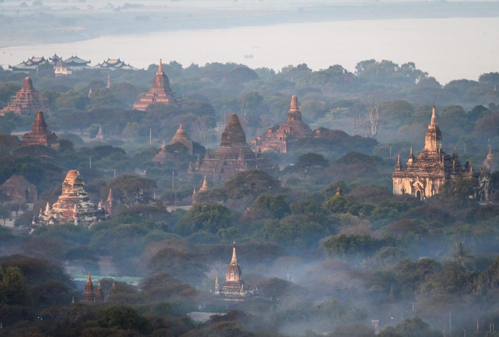 Những ngôi đền ở Bagan, một thành phố cổ và là Di sản Thế giới của UNESCO ở Myanmar – Ảnh: AFP/Getty Images