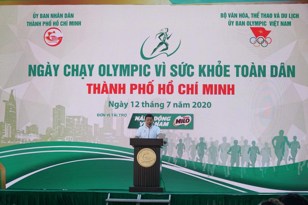 Ông Dương Anh Đức – Phó Chủ tịch Ủy Ban nhân dân TPHCM phát biểu lại buổi khai mạc