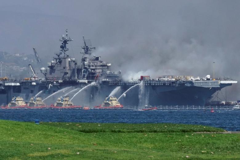 Các tàu của lực lượng chữa cháy đã có mặt để dập tắt đám cháy dữ dội. Theo thông tin ban đầu, có 18 sĩ quan bị thương và đã được đưa đến bệnh viện để điều trị.