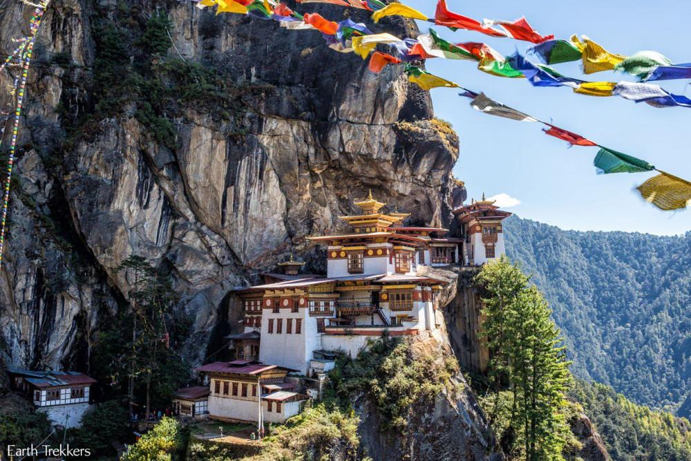 Tu viện Paro Taktsang nổi tiếng của Bhutan.