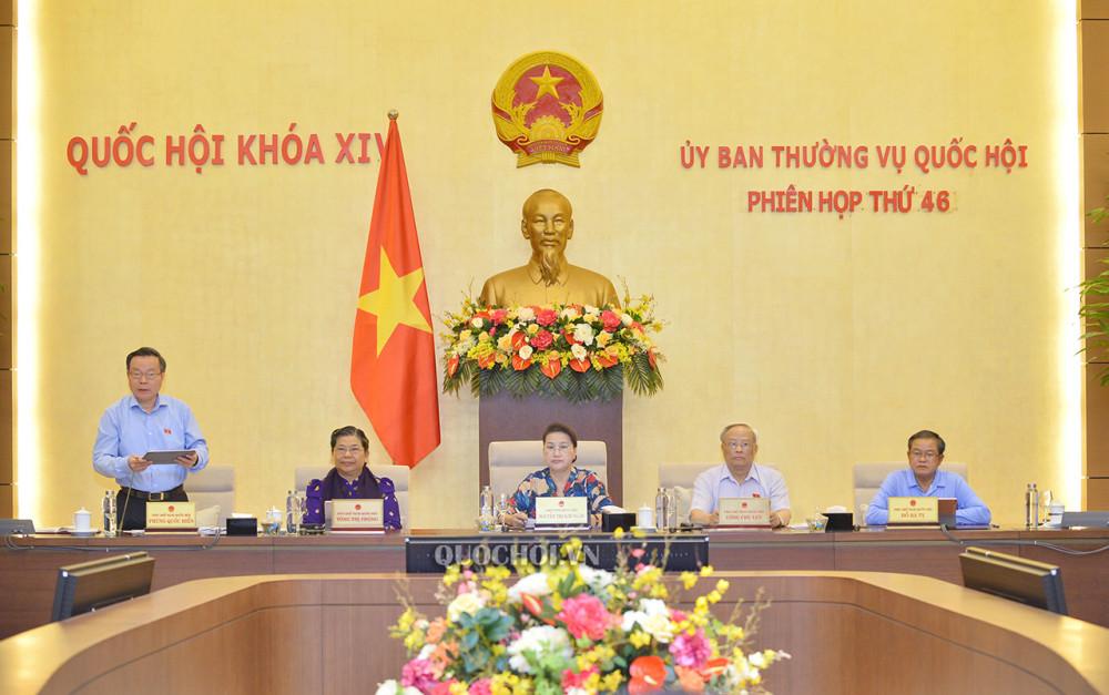 Chủ tịch Quốc hội Phùng Quốc Hiển nhận xét về tờ trình của Chính phủ.