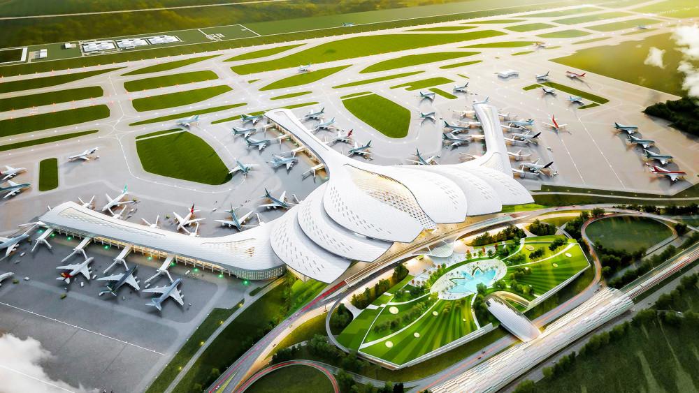 Sân bay quốc tế Long Thành dự kiến hoàn thành giai đoạn 1 vào năm 2025 với công suất đạt 25 triệu lượt khách mỗi năm