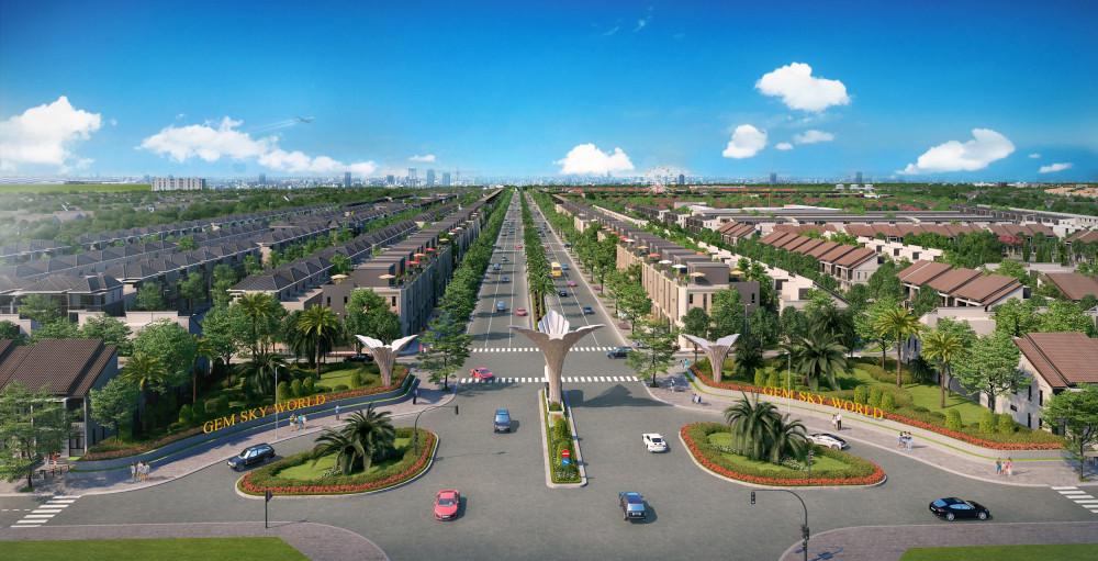 Có quy mô lên đến 92,2ha, Gem Sky World cung cấp hơn 4.000 sản phẩm bao gồm shophouse, nhà phố thương mại, biệt thự thương mại đơn - song lập