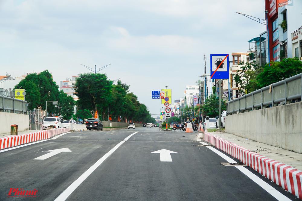 Kết thúc hầm chui nhánh hầm N2 sẽ dẫn vào đường Trường Chinh