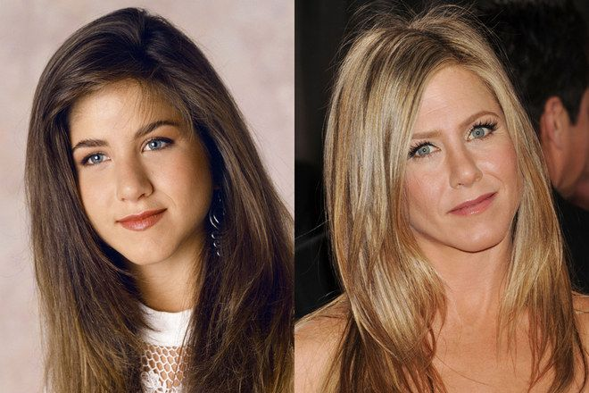 Jennifer Aniston ngày ấy và bây giờ.