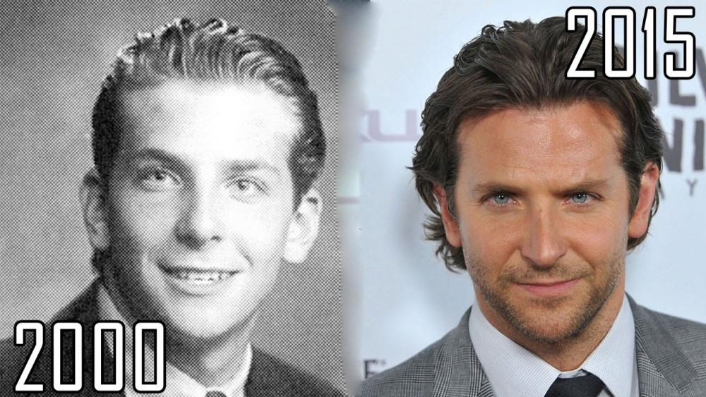 Hình ảnh hiếm hoi của Bradley Cooper ngày chưa nổi tiếng và hiện tại.
