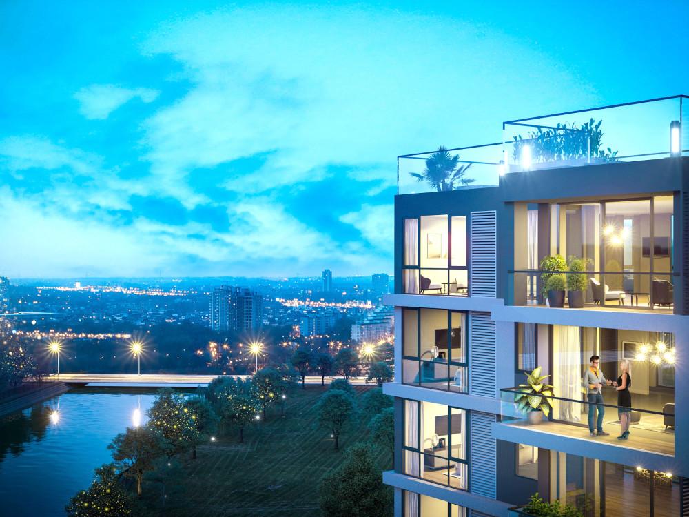Dự án sở hữu số căn hữu hạn với 100% căn hộ là căn góc