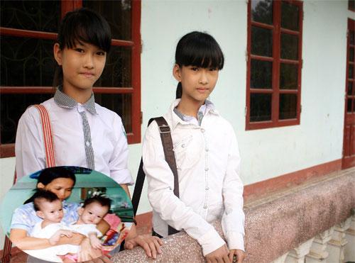 Thu Cúc, Thúy An chụp chung khi đang đi học tại Thanh Hóa