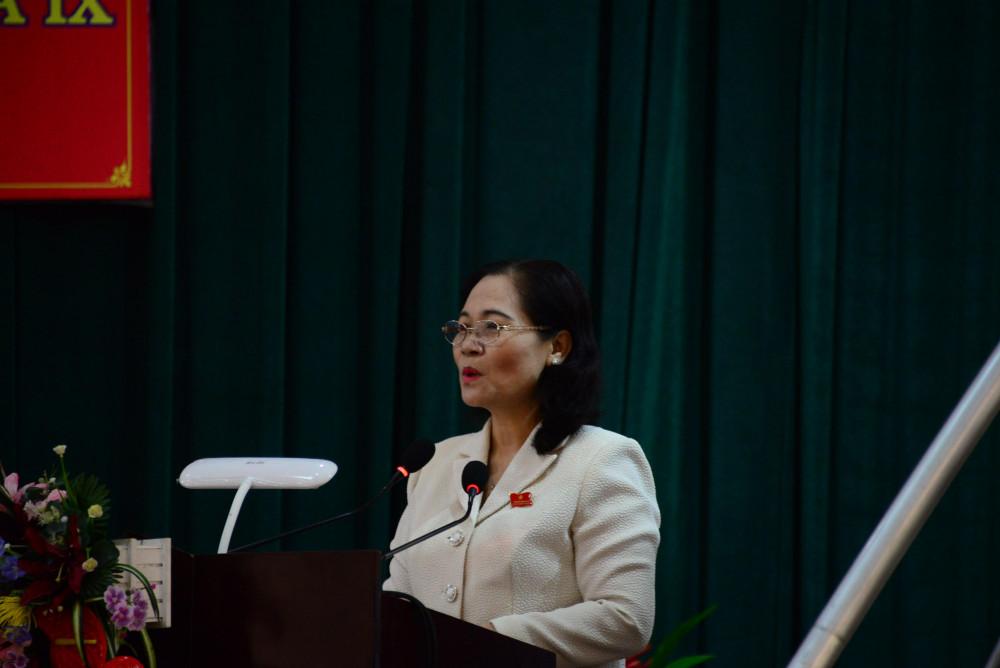 Bà Nguyễn Thị Lệ - Phó bí thư Thành ủy TPHCM, Chủ tịch HĐND TPHCM thông tin các nội dung mà cử tri quan tâm