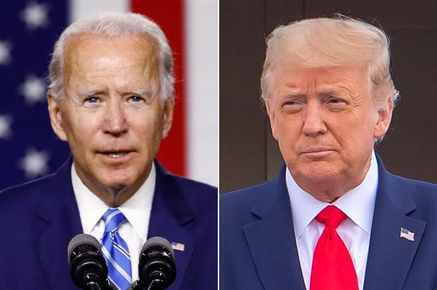 Ứng cử viên tổng thống đảng Dân chủ Joe Biden (trái) và Tổng thống Donald Trump - Ảnh: AP/EPA