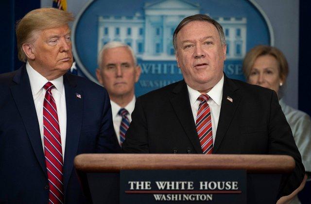 Ngoại trưởng Mike Pompeo (phải) cho rằng Mỹ chỉ đang thực hiện những hành động hợp lý nhằm ứng phó với các chính sách của Bắc Kinh.