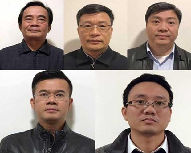 Một số bị cáo trong vụ án.