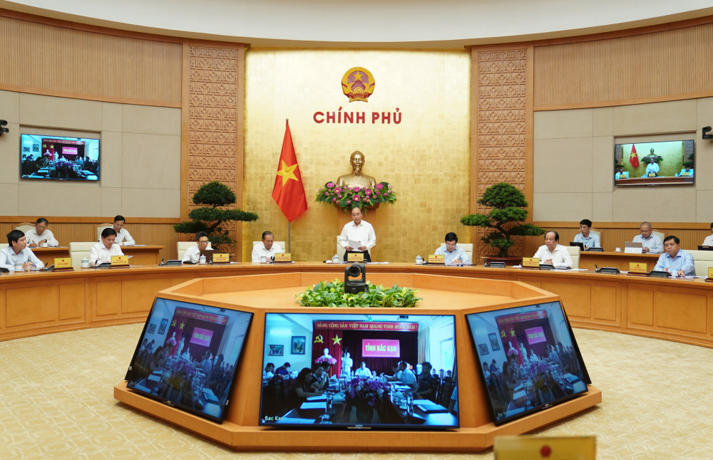 Toàn cảnh cuộc họp của Chình phủ (Ảnh: VPG).