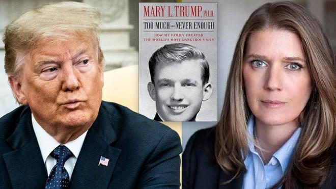 Tổng thống Donald Trump, cháu gái Mary Trump và cuốn sách vừa ra mắt.