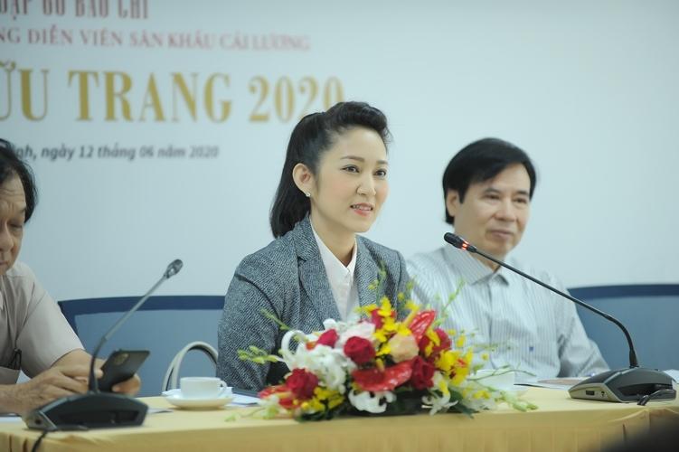 Bà Nguyễn Thị Thanh Thuý - Phó Giám đốc Sở Văn hoá - Thể thao TPHCM trong buổi họp báo thông tin về giải thưởng Trần Hữu Trang năm nay