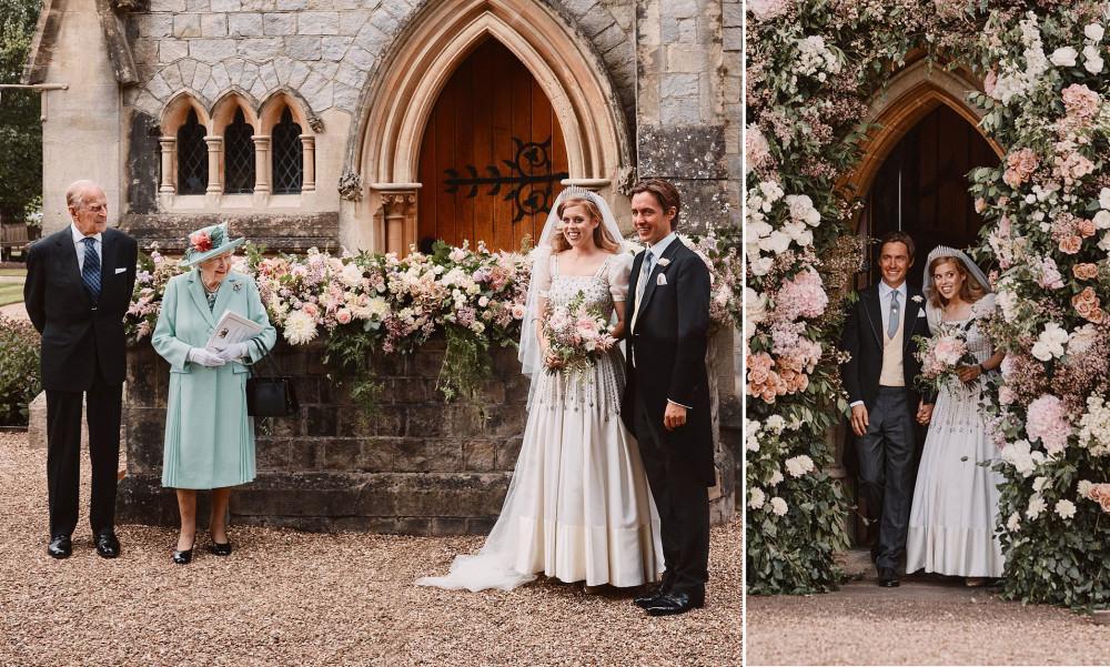 Hình ảnh lễ cưới được công chúa Beatrice chia sẻ.