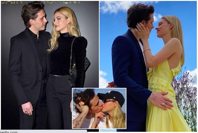 Những hình ảnh thân thiết giữa Brooklyn Beckham và vị hôn phu trong gần một năm gắn bó.