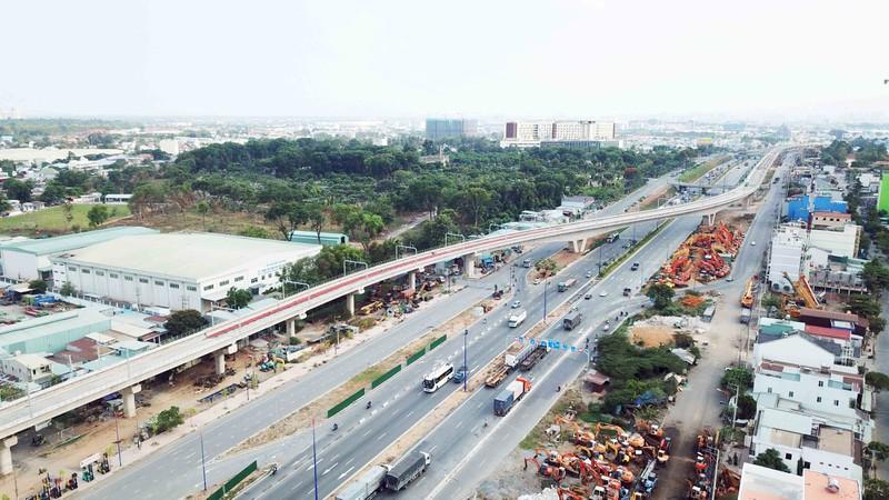 Thủ tướng đánh giá cao quyết tâm của TPHCM để đẩy mạnh giải ngân đầu tư công. Trong ảnh: Tuyến metro Bến Thành - Suối Tiên