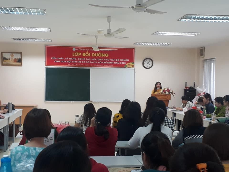 Trong thời gian 3 ngày, các cán bộ nguồn đã được cập nhật các kiến thức, kỹ năng trong tổ chức, điều hành hoạt động Hội Phụ nữ tại cơ sở.