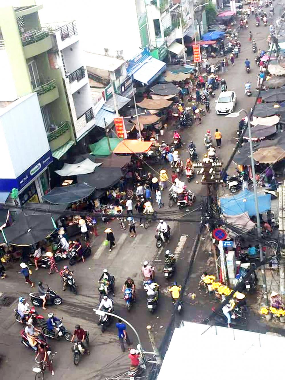 Chợ lề đường Cô Giang khi còn hoạt động