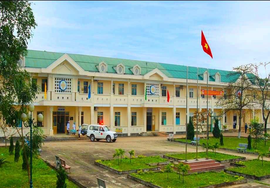 Trung tâm Y tế huyện Vĩnh Linh nơi cháu H.T.TM ( SN 2011) đang điều trị cách ly