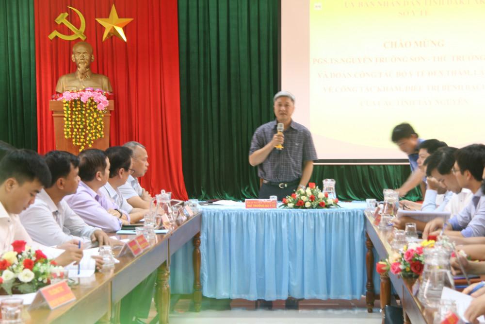 Đoàn công tác của Bộ Y tế làm việc với các tỉnh Tây Nguyên