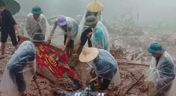 Vụ sạt lở đất gây chết người ở xã Bản Nhùng, Hoàng Su Phì.