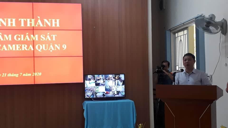 Phó Chủ tịch UBND TPHCM Dương Anh Đức phát biểu tại buổi ra mắt trung tâm