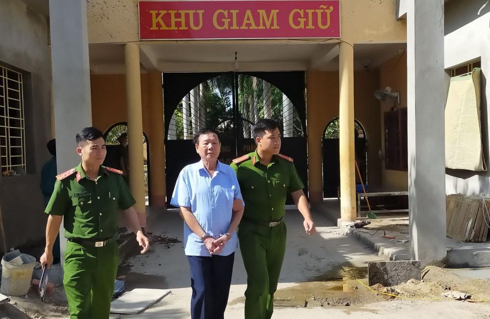 Nghi phạm Lê Mạnh Hùng bị bắt giữ - Ảnh Công an Thanh Hóa cung cấp