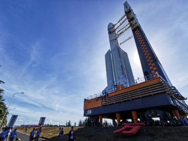 Tàu vũ trụ Tianwen-1 (Thiên Vấn-1) của Trung Quốc dự kiến sẽ phóng lên Sao Hỏa nhờ tên lửa đẩy Trường Chinh 5 - Ảnh: AFP