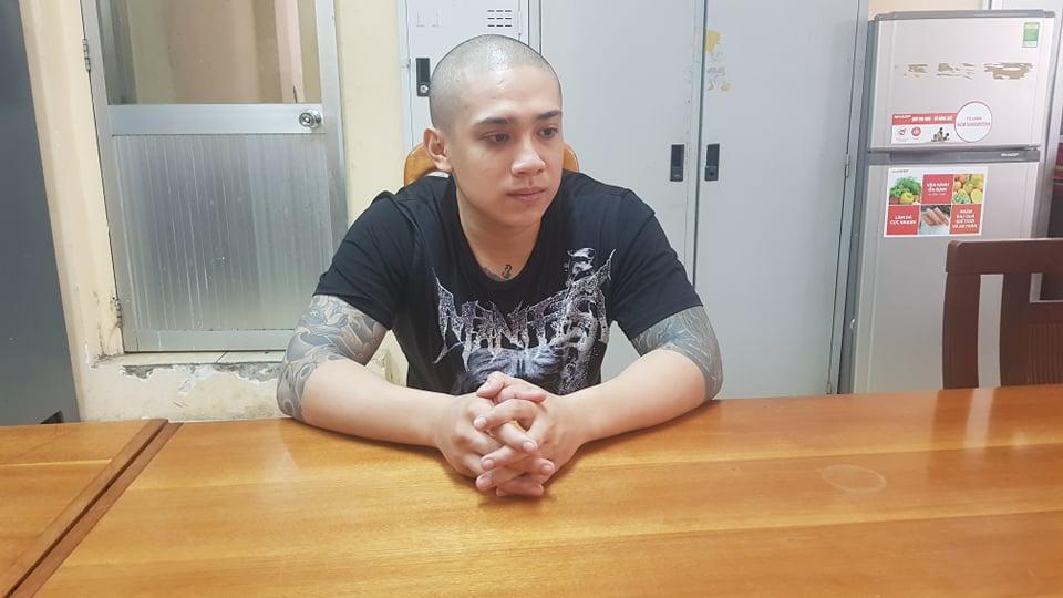 Mai Nguyễn Xuân Thành tại cơ quan công an